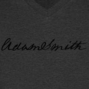 Adam Smith signature 1783 - Men's Organic V-Neck T-Shirt by Stanley & Stella