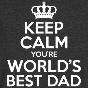 Keep Calm World's Best Dad - fathers day - Men's V-Neck T-Shirt