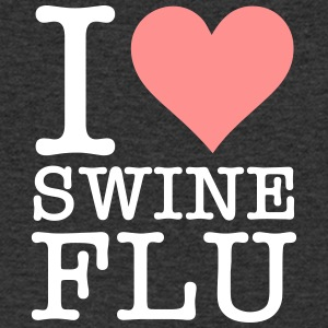 I Love Swine Flu! - Men's Organic V-Neck T-Shirt by Stanley & Stella