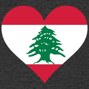A Heart For Lebanon - Men's V-Neck T-Shirt