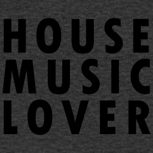 House Music Lover - T-shirt med v-ringning herr