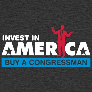 Invest In America. Buy A Congressman! - Men's Organic V-Neck T-Shirt by Stanley & Stella