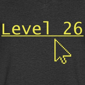 Level 26 - Mannen T-shirt met V-hals