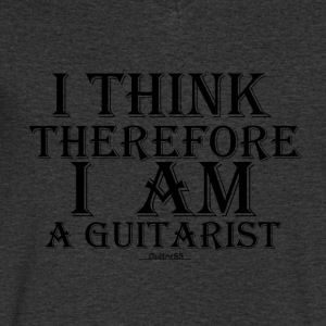 Cogito Ergo Sum Guitarist (Black) - Men's V-Neck T-Shirt