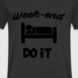Week end do it - T-shirt bio col en V Stanley & Stella Homme