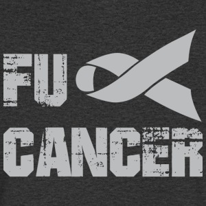 Fuck Cancer Shirt - Men's Organic V-Neck T-Shirt by Stanley & Stella