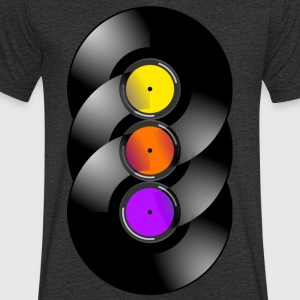vinyl Chakra - Men's Organic V-Neck T-Shirt by Stanley & Stella