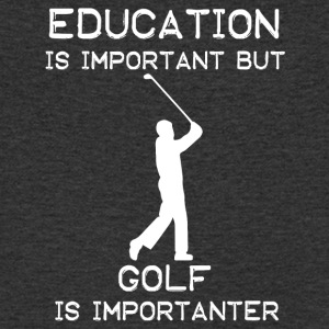 Education is important but Golf is importanter - Männer Bio-T-Shirt mit V-Ausschnitt von Stanley & Stella
