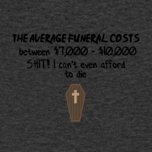 Funeral costs - Men's Organic V-Neck T-Shirt by Stanley & Stella