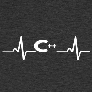 Heartbeat Programming Heartbeat heart rate - Men's Organic V-Neck T-Shirt by Stanley & Stella