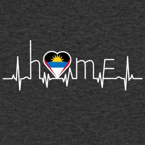 i love home home Antigua Barbuda - Men's Organic V-Neck T-Shirt by Stanley & Stella