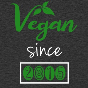 Vegan since 2015 - Men's Organic V-Neck T-Shirt by Stanley & Stella