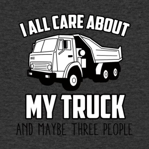 Trucker / Truck Driver: I All Care About My Truck - Men's Organic V-Neck T-Shirt by Stanley & Stella