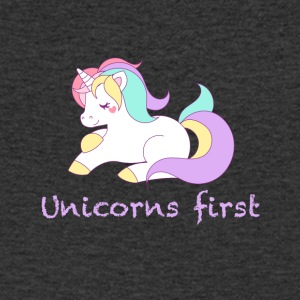Unicorns first - Men's V-Neck T-Shirt