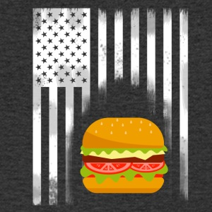 American burger hamburger fastfood flag usa esse - Men's Organic V-Neck T-Shirt by Stanley & Stella