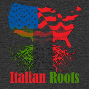 Italian roots - Men's Organic V-Neck T-Shirt by Stanley & Stella