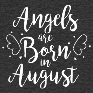 Angels are born in August - Men's Organic V-Neck T-Shirt by Stanley & Stella