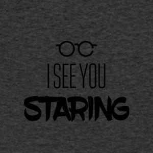 I see you staring - Men's Organic V-Neck T-Shirt by Stanley & Stella