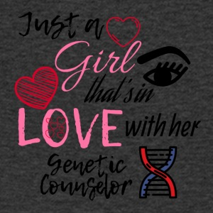 A girl who's in love with her genetic counselor - Men's V-Neck T-Shirt