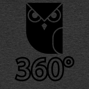 owl blak - Men's Organic V-Neck T-Shirt by Stanley & Stella