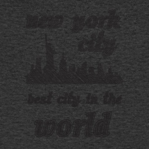 New york city is the best city in the world sIMPLE - Men's V-Neck T-Shirt
