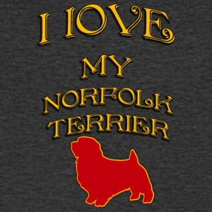 I LOVE MY DOG Norfolk Terrier - Men's V-Neck T-Shirt