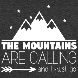 The Mountains are Calling 002 - Men's Organic V-Neck T-Shirt by Stanley & Stella