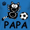 Catpaw Cat Cats Comic Papa Vater Daddy Fußball  - T-shirt herr