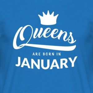 QUEENS föds i januari - T-shirt herr