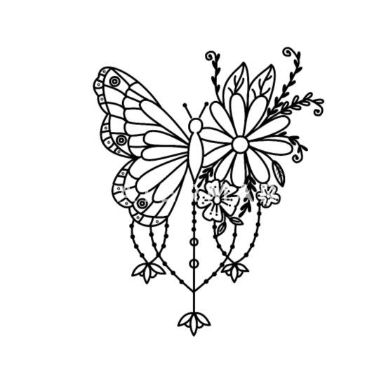 Papillon Mandala Fleur Cadeau Plantes Animaux T Shirt Homme Spreadshirt