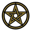 Pentagram amulet- Sign of intellectual omnipotence and autocracy. 2c, Star of the Magi , powerful symbol of protection - Men's T-Shirt