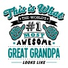 great grandpa world no1 most awesome cop - Men's T-Shirt