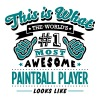paintball player world no1 most awesome  - Men's T-Shirt