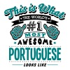 portuguese world no1 most awesome copy - Men's T-Shirt