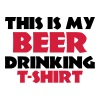 This is my Beer drinking T-Shirt - Herre-T-shirt