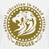natural vibration in sound system reggae - T-shirt Homme