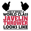 world class javelin thrower - Men's T-Shirt