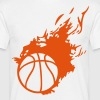 ballon basketball flamme fireball1 - T-shirt Homme