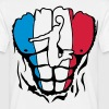 basketball france corps muscle drapeau - Camiseta hombre