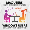 Mac users swear by their computers - Men's T-Shirt