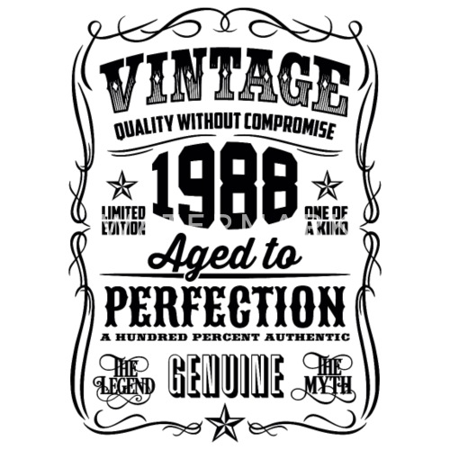 1988 Vintage 30th Birthday Gift 30 Years Old By T Shirt Of The Year