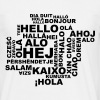 Hello in 29 languages - Men's T-Shirt