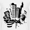 A New-York City Design   dans le style de graffiti  - T-shirt Homme