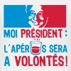 moi president apero alcool humour volont - T-shirt Homme