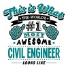 civil engineer world no1 most awesome co - Men's T-Shirt