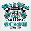 marketing student world no1 most awesome - Men's T-Shirt