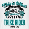 trike rider world no1 most awesome copy - Men's T-Shirt