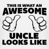 Awesome Uncle Looks Like - T-shirt herr