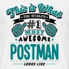 postman world no1 most awesome copy - Men's T-Shirt