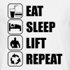 Eat Sleep Lift Repeat - Mannen T-shirt